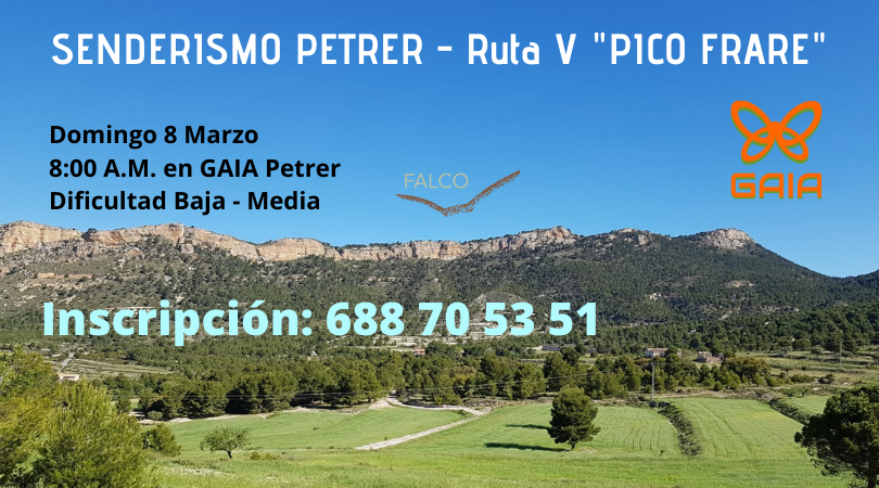 Senderismo Petrer. Ruta V «Pico Frare»